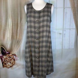 Meg Lauren Plaid Sleeveless Dress